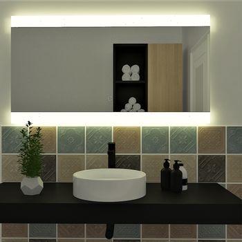 Espejo Aurora con Luz Led e Interruptor Táctil 120x50 cm