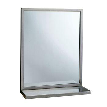 Espejo Inclinado Posición Fija con Marco Satinado 46x91 cm