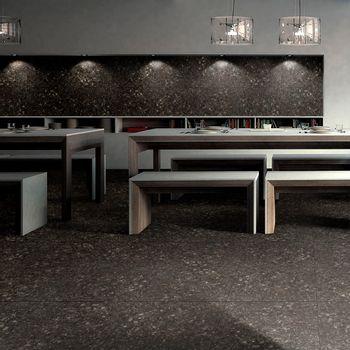 Porcelanato Terrazo Negro Mate 60x60 cm