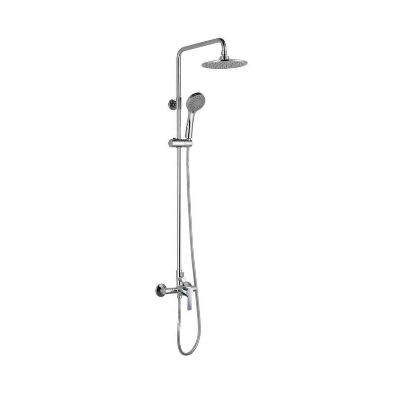 Baños-Columna-para-Ducha-Trento-con-Mezclador-Ducha-Fija-Fono-y-Flexible-Cromado