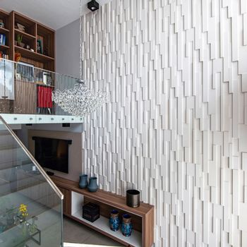 Cemento Arquitectónico Squadri Paris Branco Mate  40x120 cm