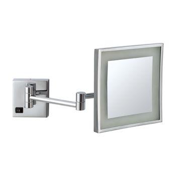 Espejo Aumento a Muro con Brazo articulado y Luz