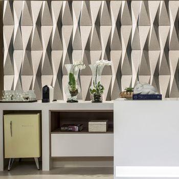 Cemento Arquitectónico Origami Cinza Grezzo Mate  20x80 cm