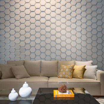 Cemento Arquitectónico Polygon Paris Branco Mate 15x17.3x3.5 cm
