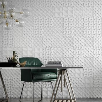 Cemento Arquitectónico Segmento Delta Paris Branco Mate  20x20x1.5 cm