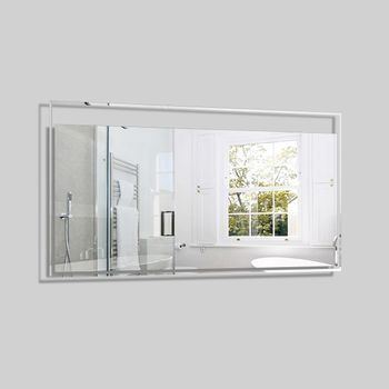 Espejo Twinkle Rectangular con Luz Led 1200x30x600 mm