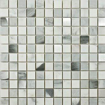 Mosaico Carrara Aluminio 30x30 cm