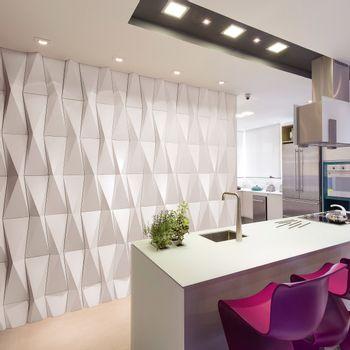 Cemento Arquitectónico Origami Branco Paris Mate 20x80 cm