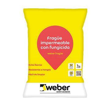 Fragüe Porcelanato y Cerámica Weber Platino 1 Kg