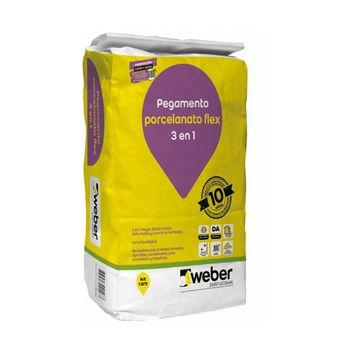 Adhesivo Porcelanato Weber Flex Polvo 25 Kg